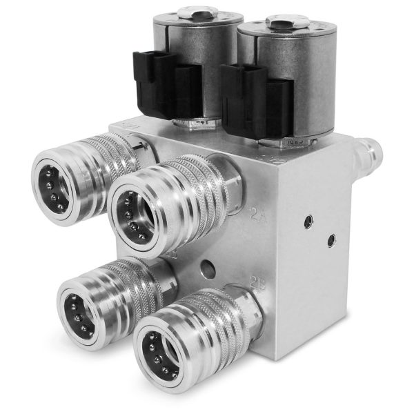 Hydraulic Multiplier Valve, SCV Splitter / Diverter with Couplers and Push Button Switch