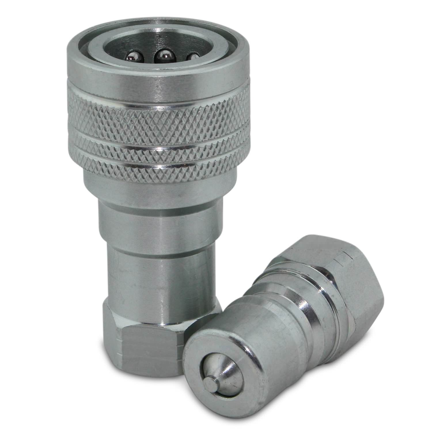 Quot npt iso b quick disconnect hydraulic coupler set