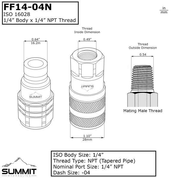 FF14-04N Dimensions