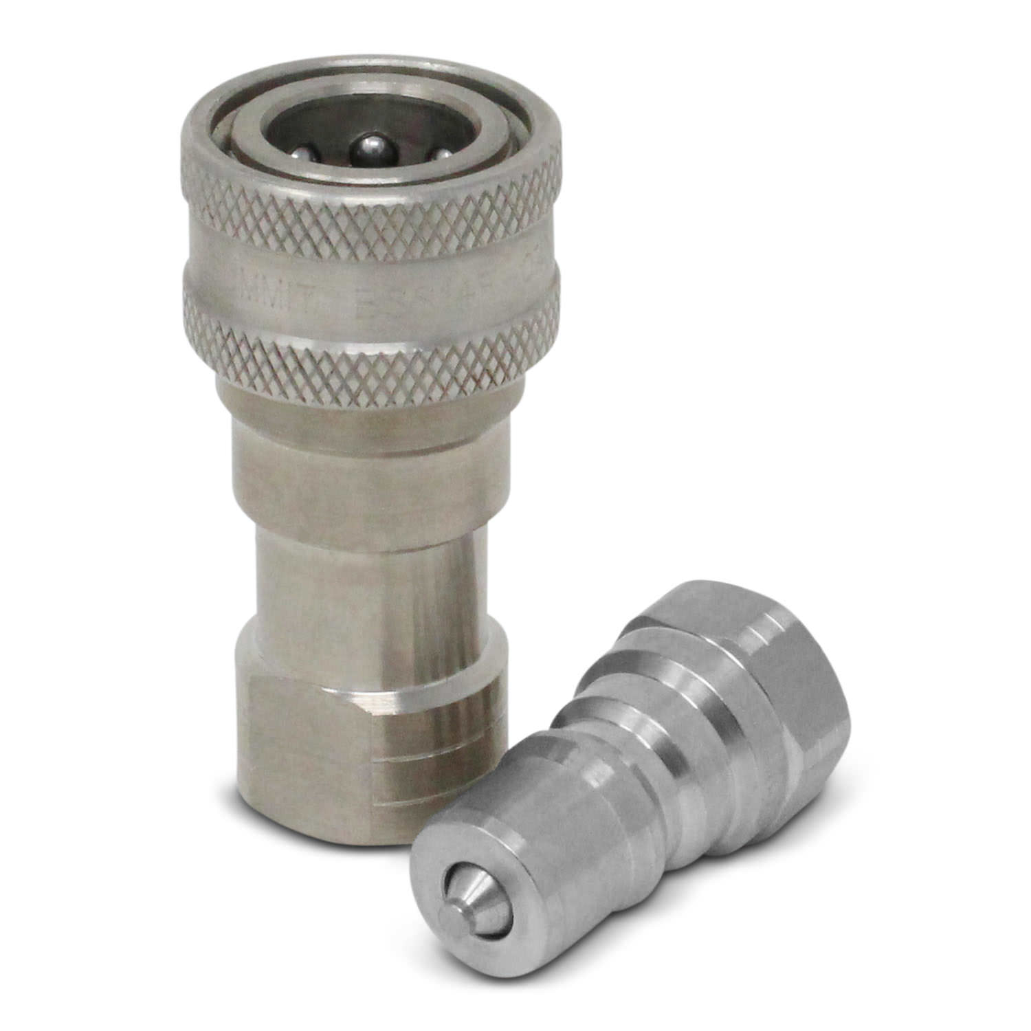 Stainless Steel Coupler : Quot npt iso b stainless steel quick disconnect
