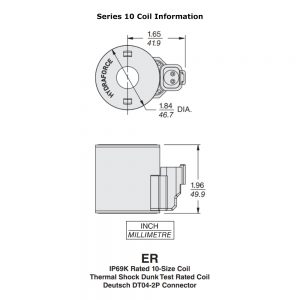 12v DC Solenoid Coil for Summit Hydraulic Multiplier