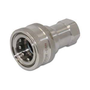 1/2″ NPT ISO 7241-B Stainless Steel Quick Disconnect Hydraulic Female Coupler