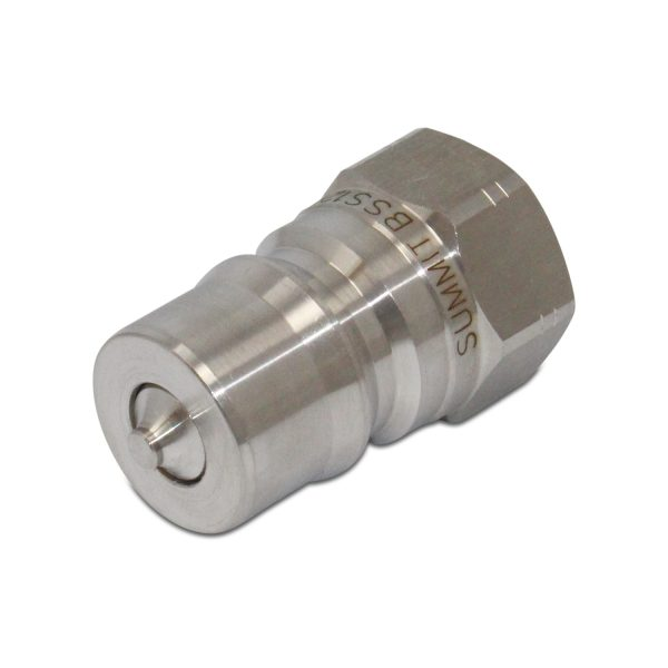 1/2″ NPT ISO 7241-B Stainless Steel Quick Disconnect Hydraulic Male Coupler