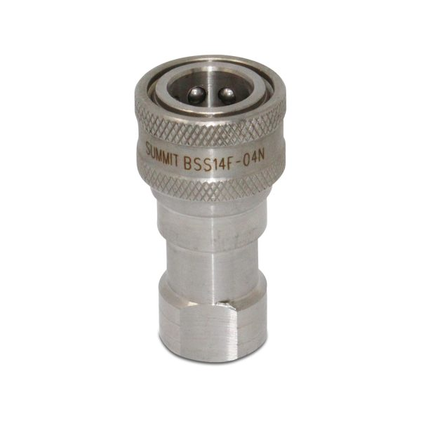 1/4″ NPT ISO 7241-B Stainless Steel Quick Disconnect Hydraulic Female Coupler