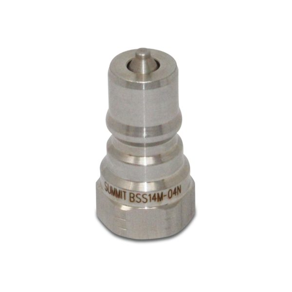 1/4″ NPT ISO 7241-B Stainless Steel Quick Disconnect Hydraulic Male Coupler