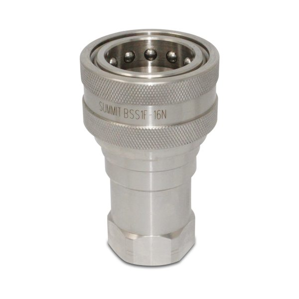 1″ NPT ISO 7241-B Stainless Steel Quick Disconnect Hydraulic Female Coupler