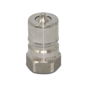 3/4″ NPT ISO 7241-B Stainless Steel Quick Disconnect Hydraulic Male Coupler