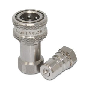3/8″ NPT ISO 7241-B Stainless Steel Quick Disconnect Hydraulic Coupler