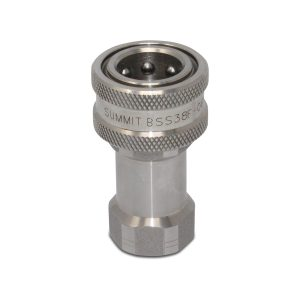 3/8″ NPT ISO 7241-B Stainless Steel Quick Disconnect Hydraulic Female Coupler