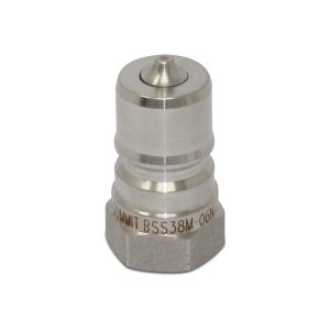 3/8″ NPT ISO 7241-B Stainless Steel Quick Disconnect Hydraulic Male Coupler