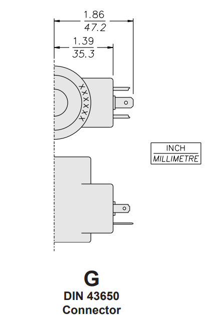 Din Connector Dimensions 10 Series 1 hydraforce 6356024 solenoid valve coil, 3 prong din connector, 24v din 43650 wiring diagram at mr168.co