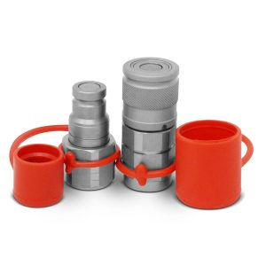"3/8"" Flat Face Hydraulic Quick Connect Coupler Set, 1/2"" NPT Thread"