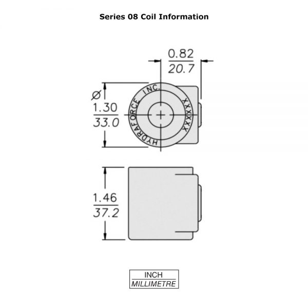 HydraForce 6309737 Solenoid Valve Coil, Weather Pack Connector w/ Diode, 12v DC, 08 Series