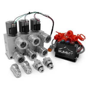 Hydraulic Multiplier Kit, 3 Circuit Selector Valve Including Couplers and Switch Box Control
