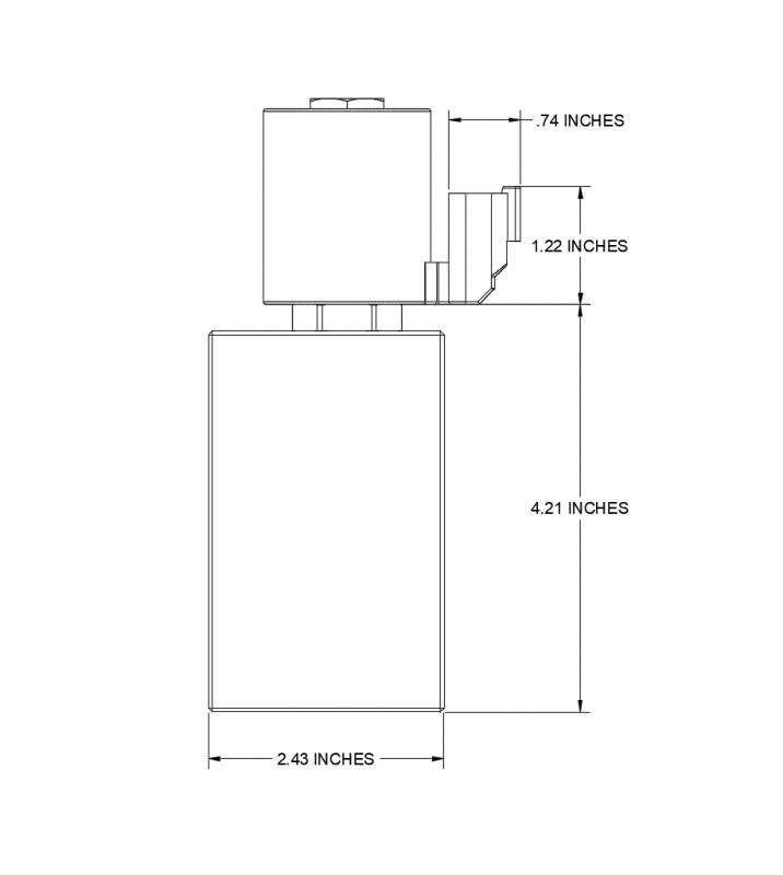 Dimension CAD Diagram of HM2-08