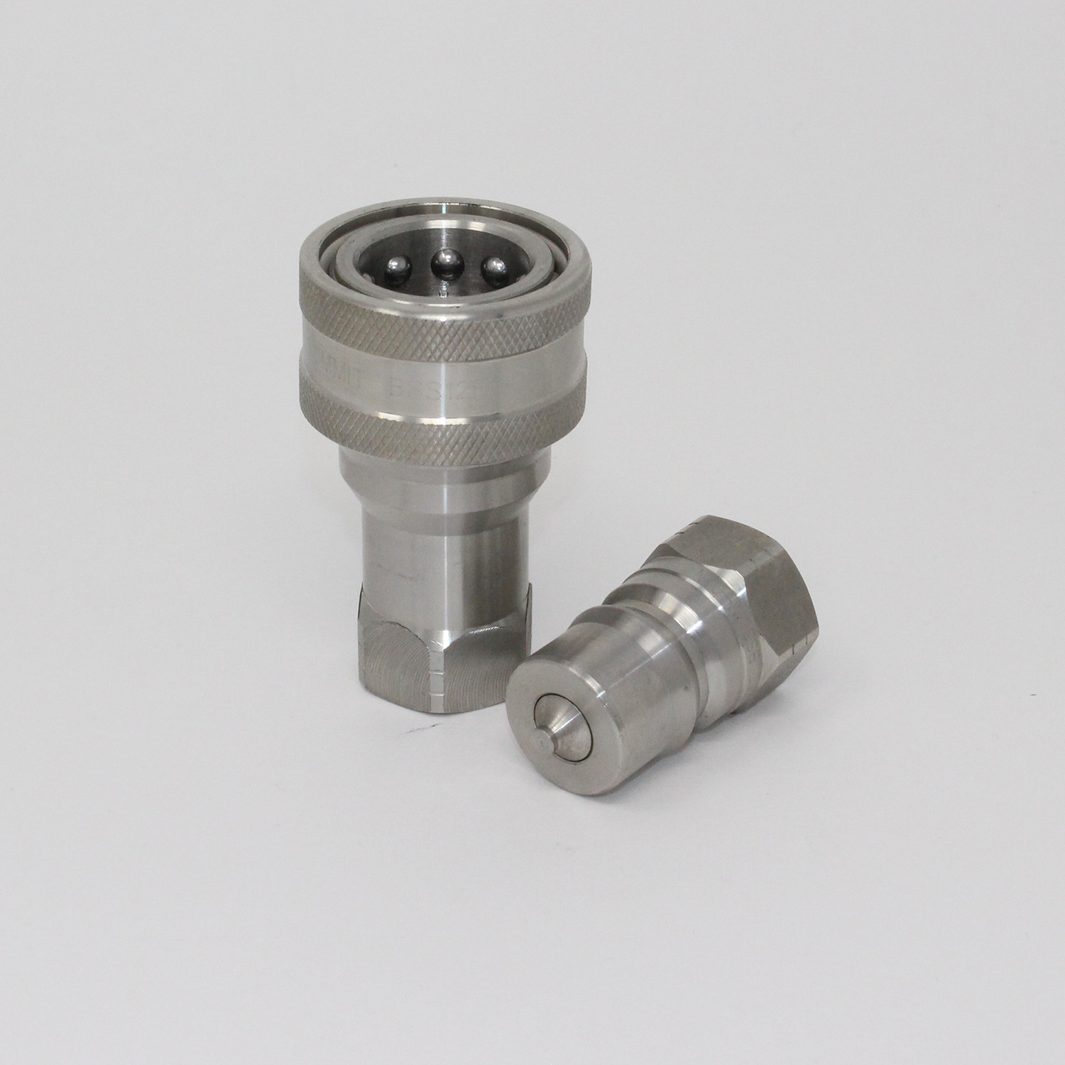 Stainless Hydraulic Quick Coupler : Quot npt iso b stainless steel quick disconnect