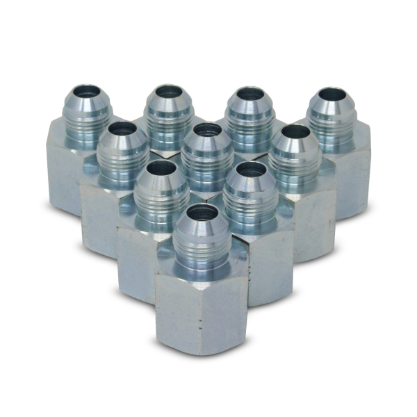 "2405-10-08 Hydraulic Adapter Fitting, 5/8"" JIC Male x 1/2"" NPT Female, 10PK"