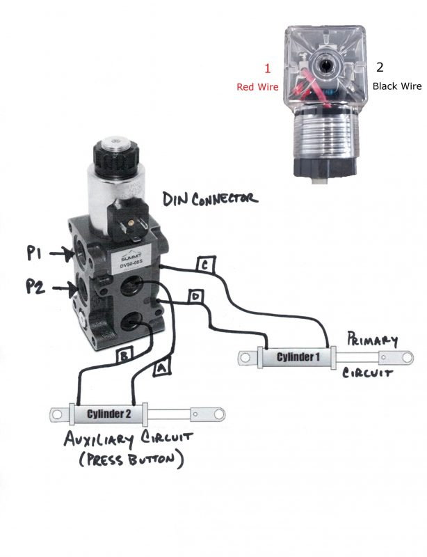 Hydraulic Solenoid Selector DV50 Instruction Diagram