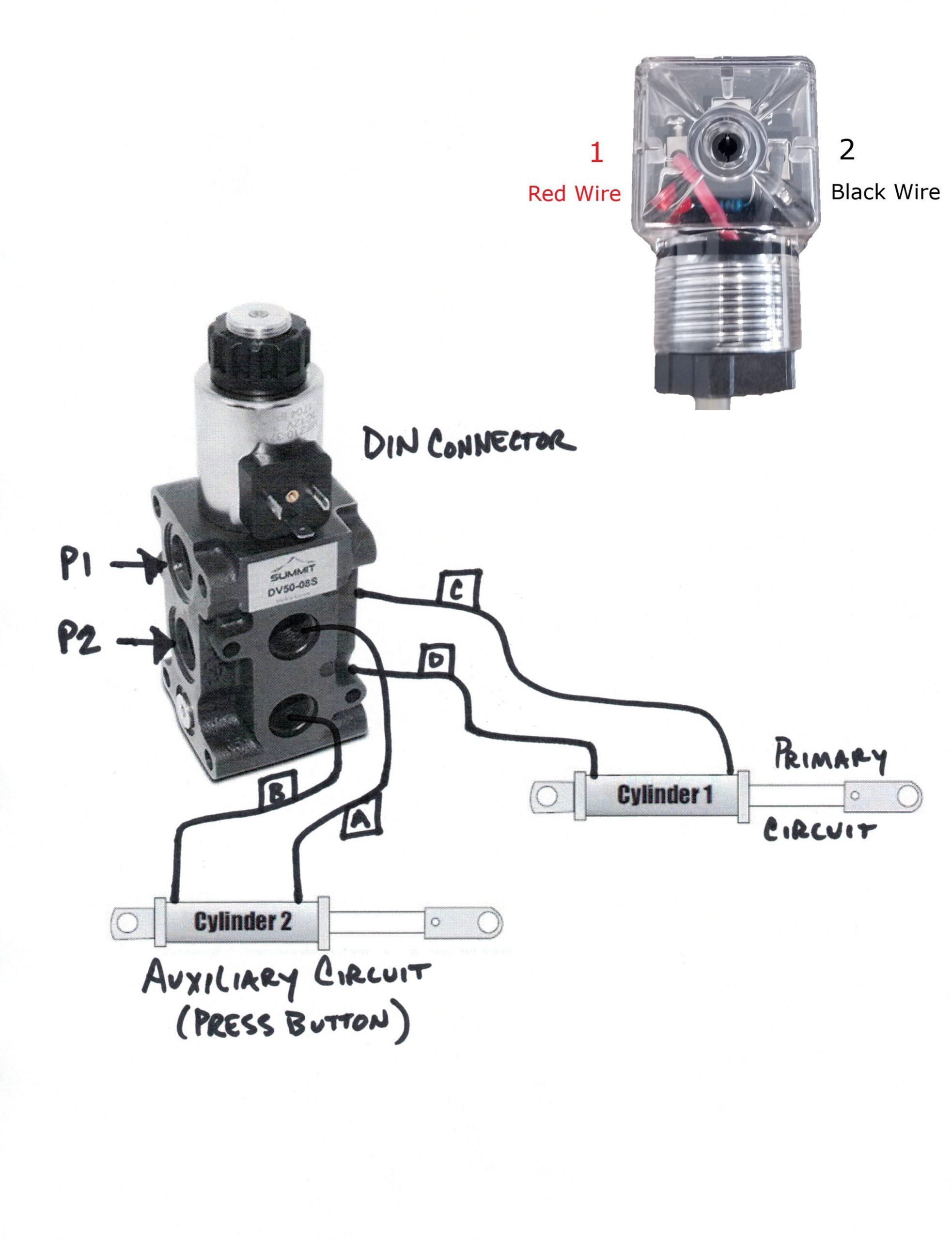 Hydraulic Solenoid Selector DV50 Instruction Diagram - Summit Hydraulics | Hydraulic Solenoid Wiring Diagram |  | Summit Hydraulics