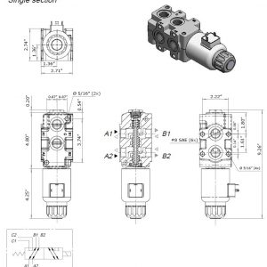 hydraulic multiplier selector diverter solenoid valve w