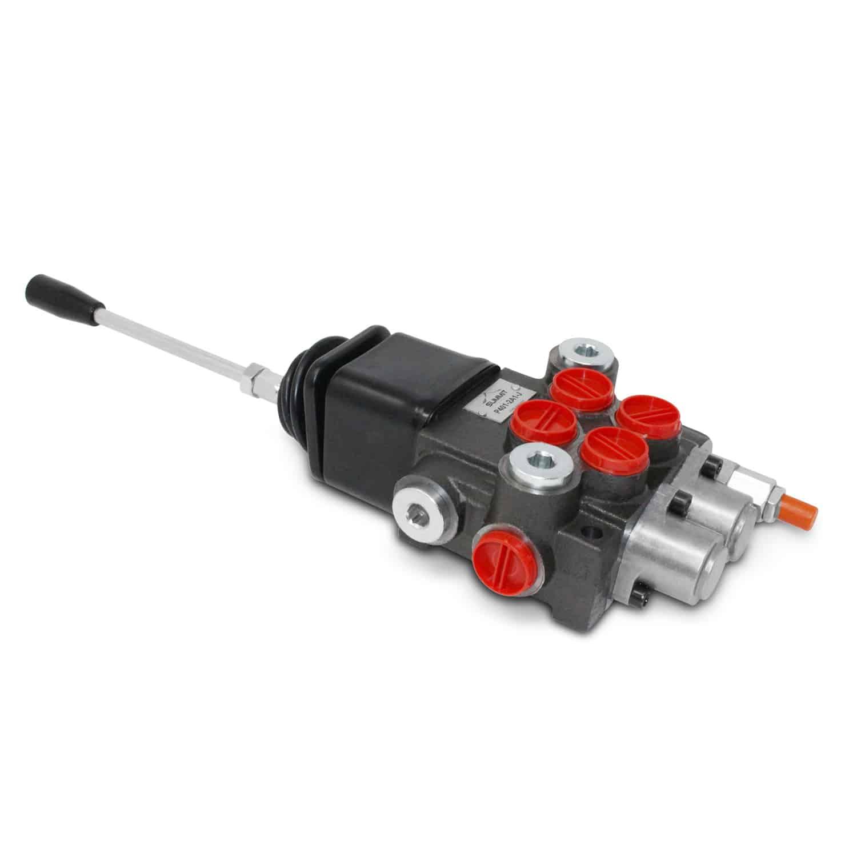 Tractor Hydraulic Control : Monoblock hydraulic directional control valve w joystick