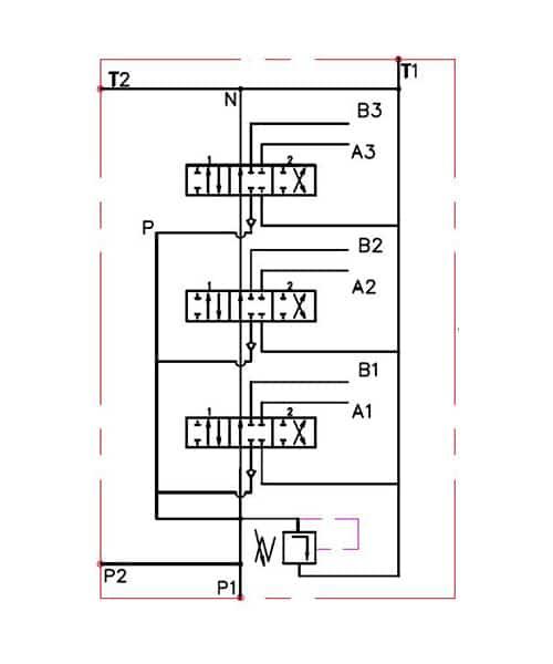 monoblock hydraulic directional control valve  7 spool  11 gpm
