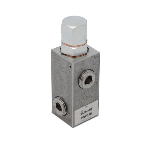 "Adjustable High Pressure Relief Valve, 16 GPM, 2500 PSI, 1/2"" NPT"