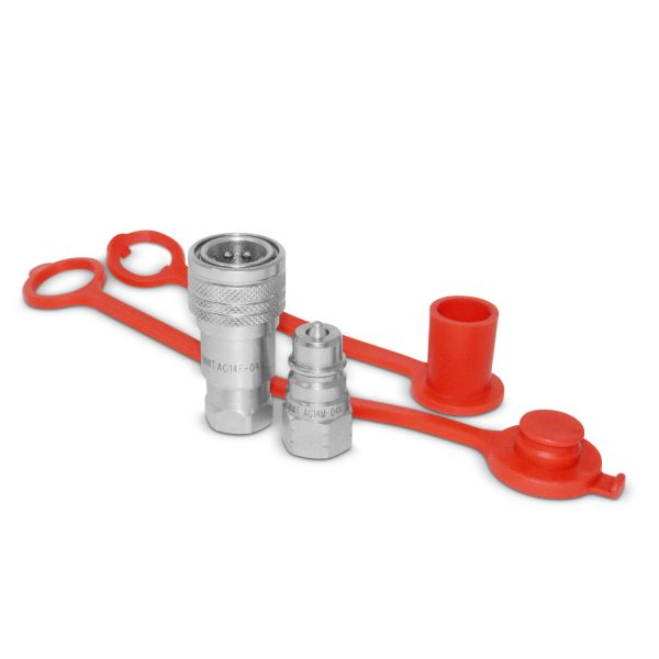 "1/4"" Ag Hydraulic Quick Connect Coupler Set, 1/4"" NPT Thread"