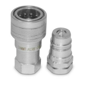 "3/8"" Ag Hydraulic Quick Connect Coupler Set, 3/8"" NPT Thread"