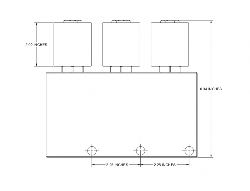 Dimension CAD Diagram of HM3-08