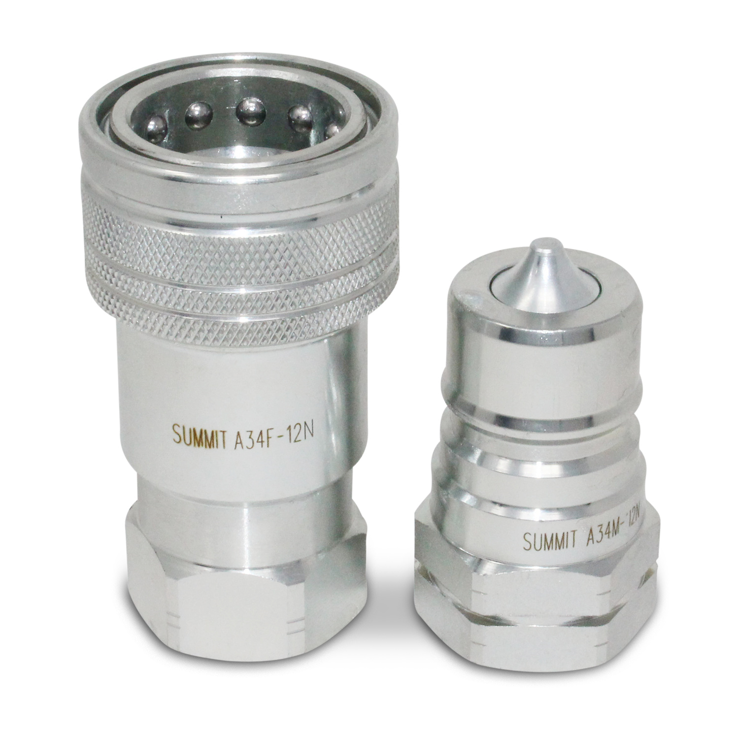 ″ npt iso a quick disconnect hydraulic coupler set