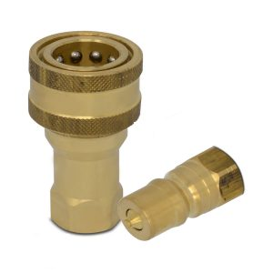 1/2″ NPT ISO 7241-B Brass Quick Disconnect Hydraulic Coupler Set