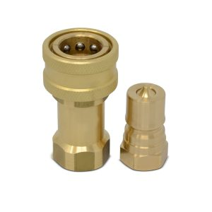 3/8″ NPT ISO 7241-B Brass Quick Disconnect Hydraulic Coupler Set