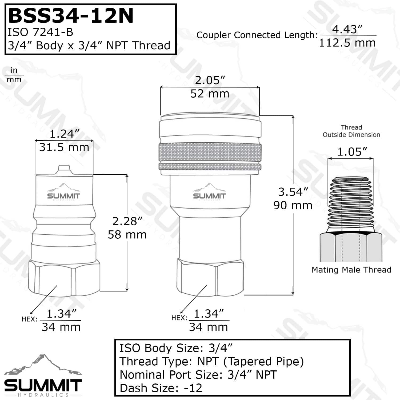 "High Speed Steel Straight Shank 5mm 6-Flute Hand Reamer 3.3/"" Length DT"