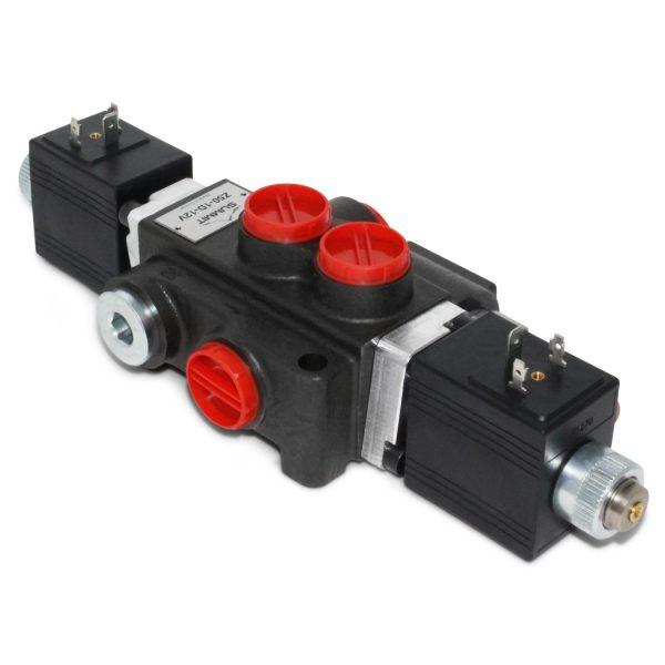 Hydraulic Monoblock Solenoid Control Valve, 1 Spool, 13 GPM, 12V DC