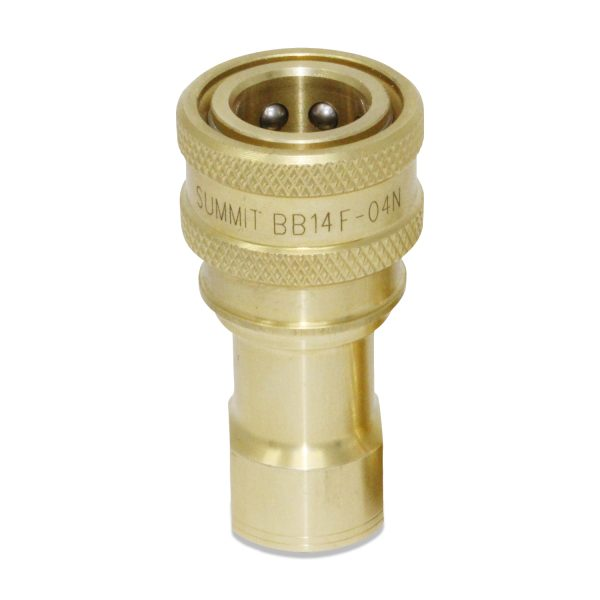 1/4″ NPT ISO 7241-B Brass Quick Disconnect Hydraulic female Coupler
