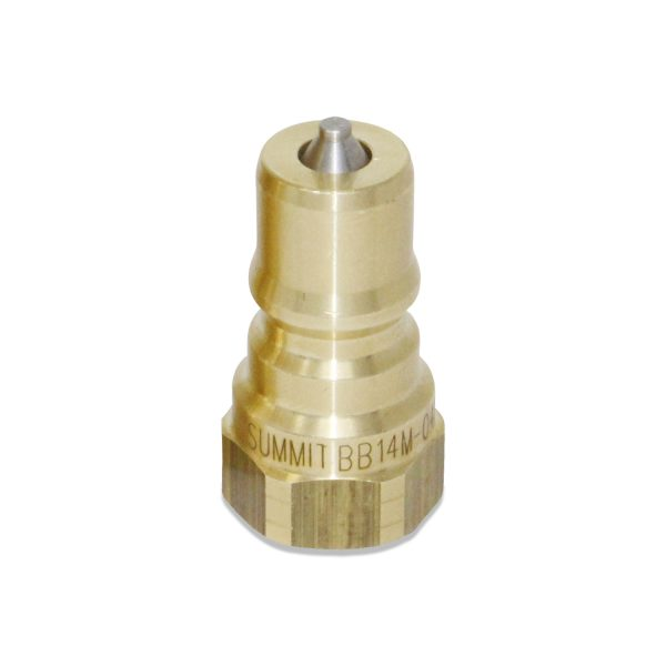 1/4″ NPT ISO 7241-B Brass Quick Disconnect Hydraulic Male Coupler