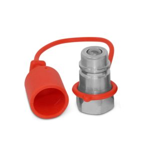 1/2″ Ag Hydraulic Quick Connect Male Coupler, Ball Valve, 1/2″ NPT Thread