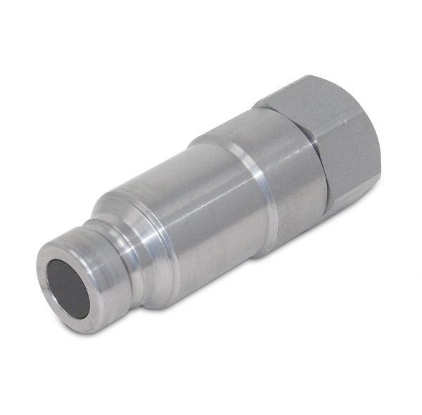 Flat Face Connect Under Pressure Hydraulic Quick Connect Male Coupler, 3/4″ NPT Thread