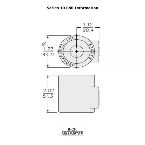 HydraForce 6359763 Solenoid Valve Coil for Bobcat Loaders