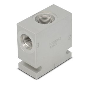 Hydraforce 7024380 Manifold Valve Body Housing, 3-Way, #8 SAE Ports, Size 10