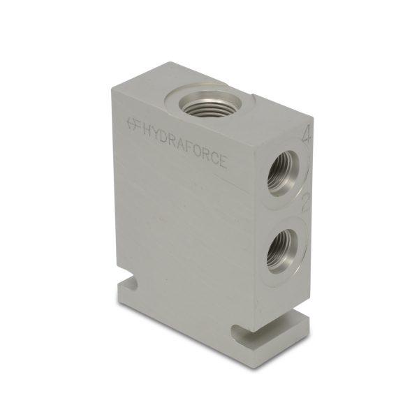 Hydraforce 7024860 Manifold Valve Body Housing, 4-Way, Size 08, #6 SAE Ports