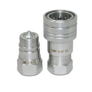 "3/4"" Ag Hydraulic Quick Connect Male Coupler, 3/4"" NPT Thread"