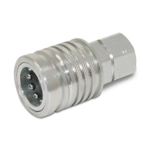 "1/2"" Female Ag Hydraulic Quick Connect Push-Pull Coupler, 1/2"" NPT Thread"