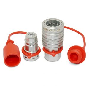 "1/2"" Ag Hydraulic Quick Connect Push-Pull Coupler Set, 1/2"" NPT Thread"