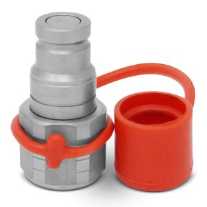 1/4″ Flat Face Hydraulic Quick Connect Male Coupler, 1/4″ NPT Thread