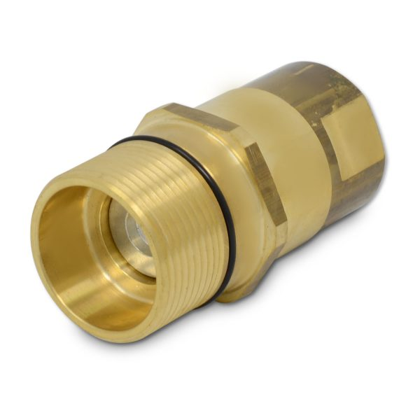 3/4″ NPT Wet-Line Wing Nut Hydraulic Quick Disconnect Male Coupler