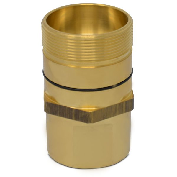 1-1/2″ NPT Wet-Line Wing Nut Hydraulic Quick Disconnect Male Coupler