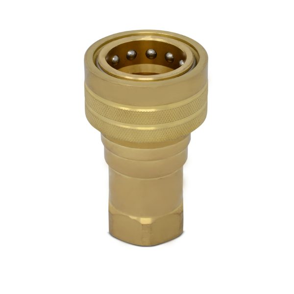 1″ NPT ISO 7241-B Brass Quick Disconnect Hydraulic Female Coupler