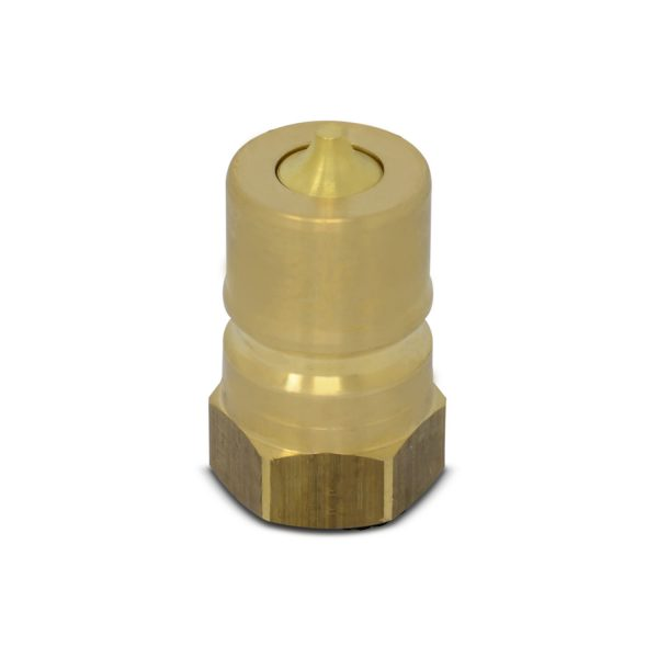 1″ NPT ISO 7241-B Brass Quick Disconnect Hydraulic Male Coupler